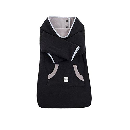 7AM Enfant Easy Cover Bunting Bag Fleece, Black, Large