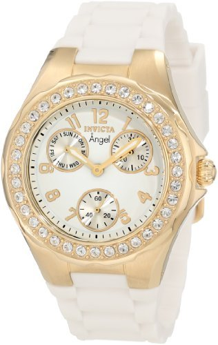 Invicta Women's 1644 Angel Jelly Fish Crystal Accented White Dial Watch - Invicta Jelly