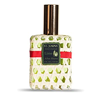 St Johns West Indian Lime Aftershave Lotion 4 Oz Spray. Fresh Citrus Lime Aftershave for Men. Handcrafted in St. Thomas, U.S. Virgin Islands for 70 Years
