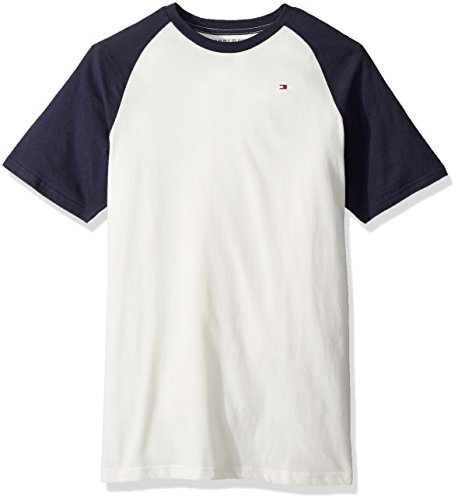 5 Tommy Hilfiger Boys/' Short Sleeve Crew Neck Striped Tee Regal Red