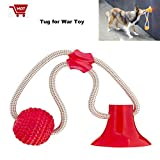 Shydie Dog Rope Toys, Dog Suction Cup Toys, Dog Interactive Pull Toys, Self-Playing Dog Tug for War Toys with Suction Cup and Ball, Great Absorb on Tile Floor,Glass, Counter and Smooth Surfaces