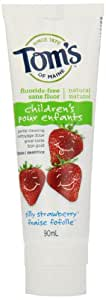 Tom's of Maine Children's Silly Strawberry Natural Fluoride Free Toothpaste 90 ml