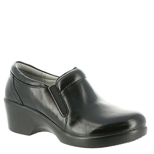 Alegria Professional Eryn Jet Luster Doctor/Chef/Nurses Shoes Leather Clogs (EU 40 Women's US Size 9) by Alegria