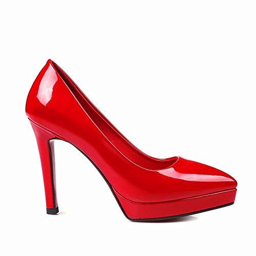 Mee Shoes Damen modern reizvoll populär Stiletto Geschlossen spitz Plateau Pumps Rot