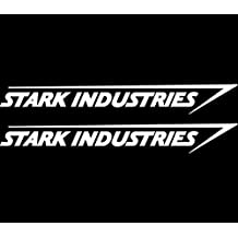 Stark Industries Sticker Vinyl Decal Marvel Iron Man Avengers Car Window x2, Die cut vinyl decal for windows, cars, trucks, tool boxes, laptops, MacBook - virtually any hard, smooth surface