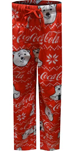 (MJC Men's Coca Cola Polar Bears Red Minky Lounge Pants (X-Large))