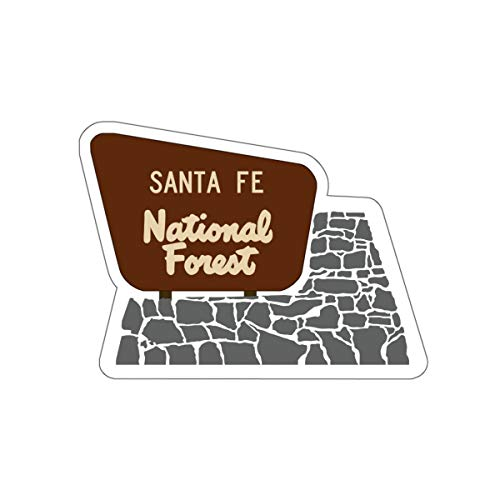 Santa Fe National Forest Entrance Sign Vinyl Sticker - NM Camping/Hiking Decal for Car, Laptop, and Water Bottle