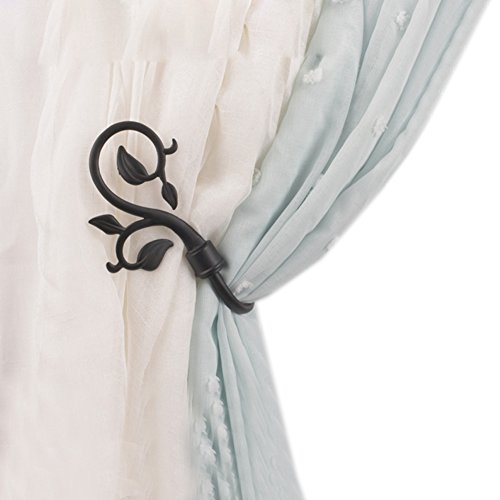 YING CHIC YYC 1Pair Window Curtain Holdback Drapery Urn Shaped Wall Hook (A) (For Holdbacks Curtains)