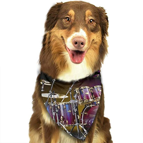 Pet Scarf Dog Bandana Bibs Triangle Head Scarfs Drum Kit Accessories for Cats Baby Puppy -