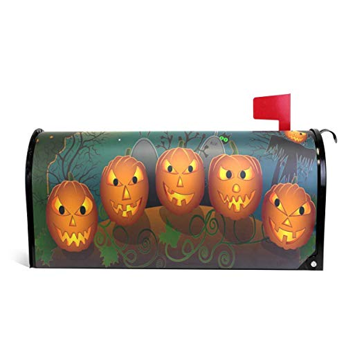 Scarecrow Toland - Mailboxcoverfhiw Cartoon Halloween Pumpkins and Scarecrow Magnetic Mailbox Cover Standard Size 6.5