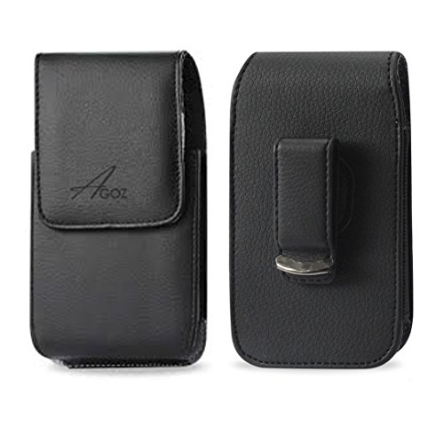 - Vertical Leather AGOZ Case Pouch Carrying Holster for Kyocera DuraForce PRO E6830 E6820 E6810 E6833, Kyocera DuraForce PRO 2 E6910 with Swivel Belt Clip and Magnetic Closure