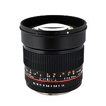 Rokinon 85M-C 85mm F1.4 Aspherical Lens for Canon (Black)