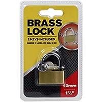 Brass Padlock 40mm (with 3 Keys)