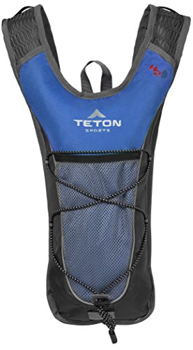 TETON Sports TrailRunner 2.0 Hydration Pack; Backpack for Hiking, Running and Cycling; Free 2-Liter Hydration Bladder; Blue