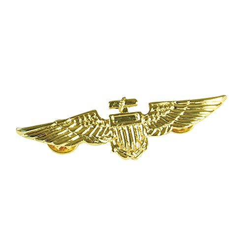 Bristol Novelty BA027 Aviator Pin, Mens, Metal/Gold, One Size]()
