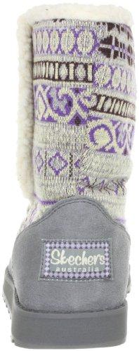 Skechers KeepsakesCardigan 47657 GRY - Botas fashion de cuero para mujer Gris