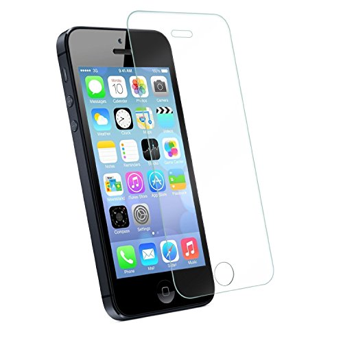 Iphone 5/5s/5c Screen Protector,(wolf Totem®)0.3mm Ultra-thin Premium Toughened Glass Screen Protector for Iphone 5/5s/5c with 2.5d Rounded Edges
