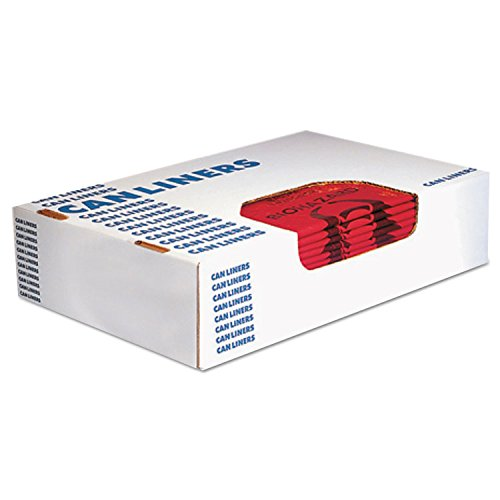 Heritage A4823PR Healthcare Biohazard Printed Can Liners, 8-10 gal, 1.3mil, 24 x 23, Red,500/CT, by Heritage Products