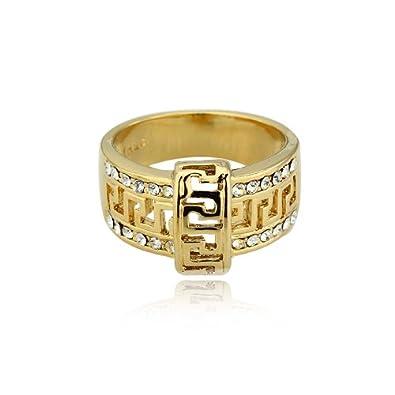 S 1 2 Vintage African Unisex Rings Designer Jewelry Mens 24k