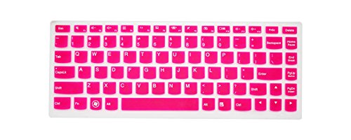 PcProfessional Hot Pink Ultra Thin Silicone Gel Keyboard Cover for Lenovo Yoga 700 14