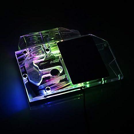 Amazon.com: GPU Cobre RBW LED Tarjeta gráfica GPU VGA Bloque ...