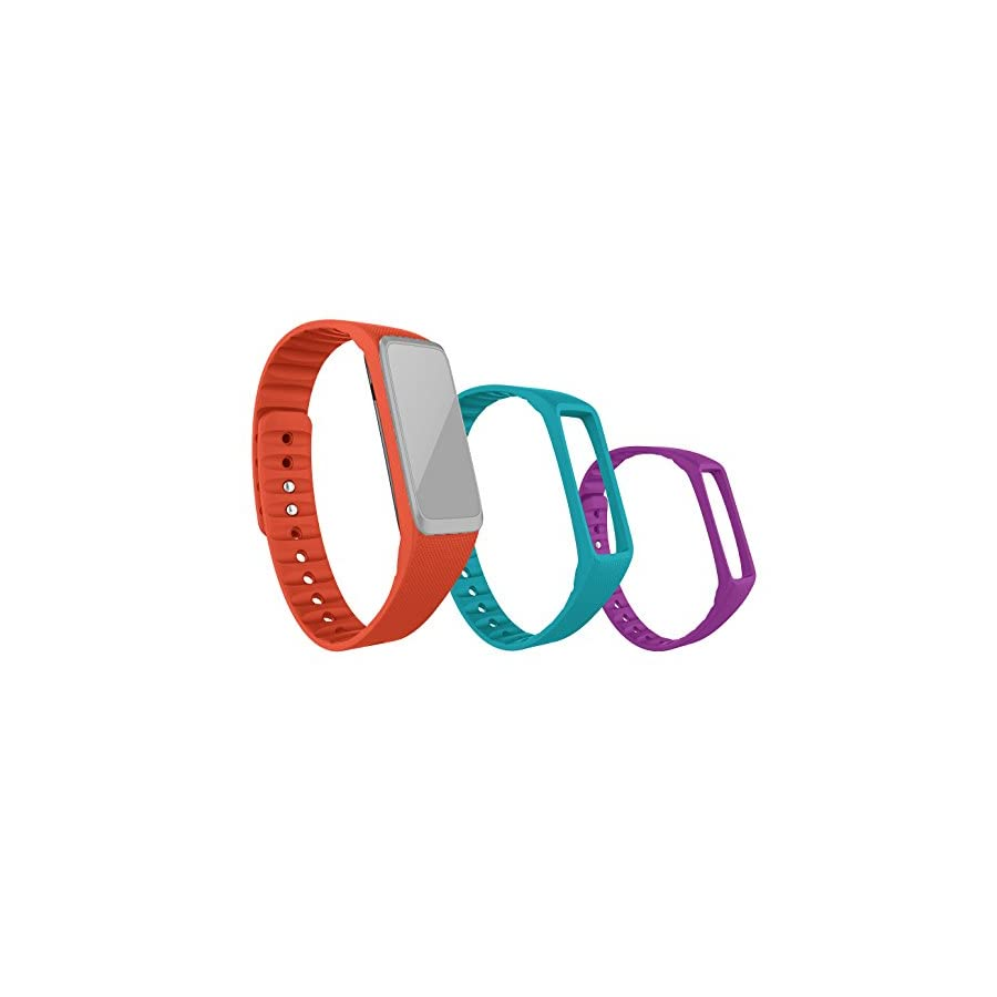 Striiv Fusion Wristband, Orange/Light Blue/Purple, One Size