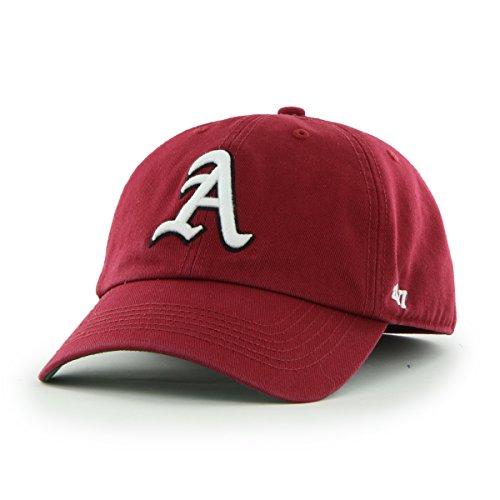 '47 NCAA Arkansas Razorbacks Franchise Fitted Hat, Dark Red B, X-Large