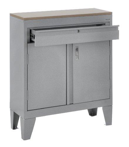 Sandusky GADP301530-MGLT Dove Gray 3-In-1 Steel Base Cabinet, 180 lb. Capacity, 1 Shelf, 1 Drawer, 37
