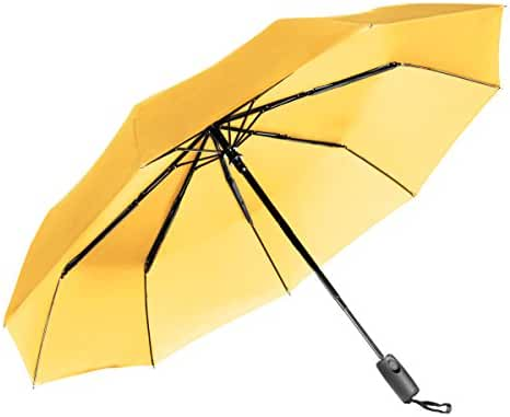 Repel Easy Touch Umbrella 11.5-Inch DuPont Teflon Travel Umbrella, Yellow