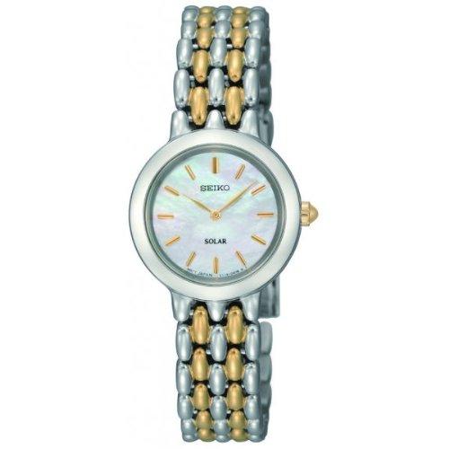 Seiko Solar SUP027P1 - Reloj correa de pulsera de dos tonos: Amazon.es: Relojes
