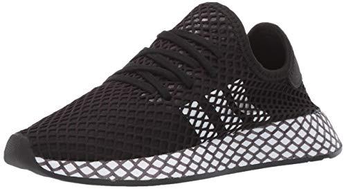 adidas Originals Unisex-Kid's Deerupt Runner Running Shoe, Black/White/Grey, 4.5 M US Big Kid (Best Running Shoes For Runners)