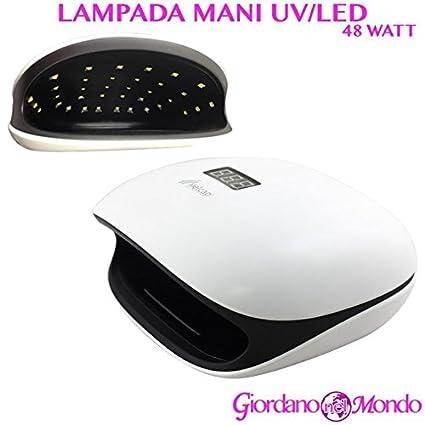 Lámpara Reconstrucción Uñas Manos UV y LED 48 W de mesa Manicura ...