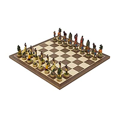 Regencychess The Masai Hand Painted Themed Chess Set by Italfama