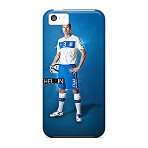 Premium Iphone 5c Case - Protective Skin - High Quality For Juventus Giorgio Chiellini On Blue Background