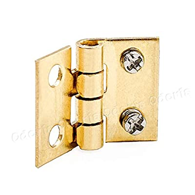 Odoria 1:12 Miniature Door Plate Knocker Lock Key and Hinge Screw Set: Toys & Games