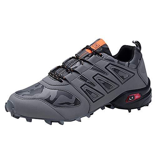 Hombres Trekking C Paseos Impermeable Escalada Viajes Gris Malla Botas Montaña Zarlle Senderismo Cuero Zapatos Por De Para EzqaUAAp4