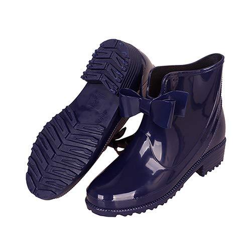 Women's Wellington Boots Waterproof Rubber Rain Boots Outdoor Anti-Slip Work Garden Shoes