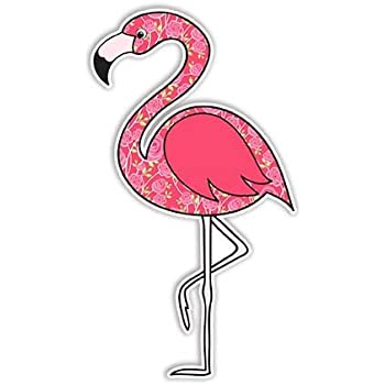 Flamingo sticker pink bird decal by megan j designs laptop car vinyl tumbler sticker