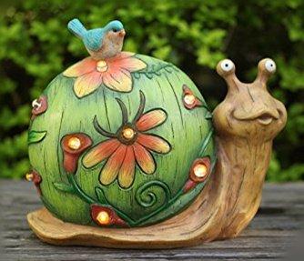 Garden Statues Solar Lights Snail Garden Decor, Figurines Decor with LED Lights,Outdoor Holiday Decorations