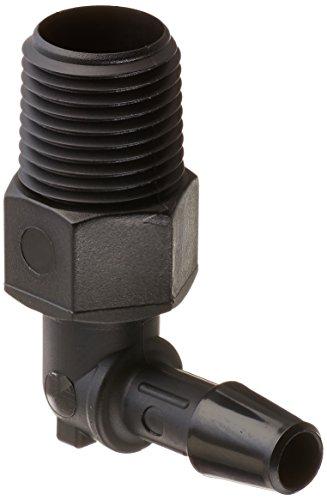 Barb Thread (Eldon James L2-3BN Black Nylon Threaded Elbow, 1/8-27 NPT Thread to 3/16
