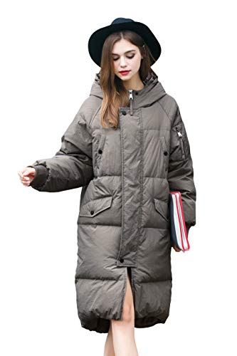 d2f885670 Winter Jacket Coat Women Puffer Anorak Long Coat Quilted Snow Warm Parka  Down Hooded Top Sleeve Coat Women Bubble Fashion Ladies Jacket Waterproof  ...