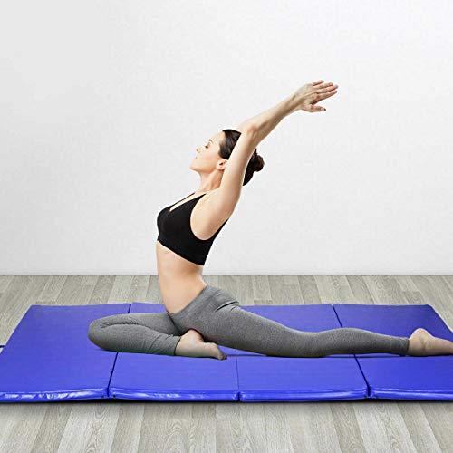 Stark Item Blue 4'x8'x2 Gymnastics Mat Thick Folding Panel Gym Fitness Exercise Mat