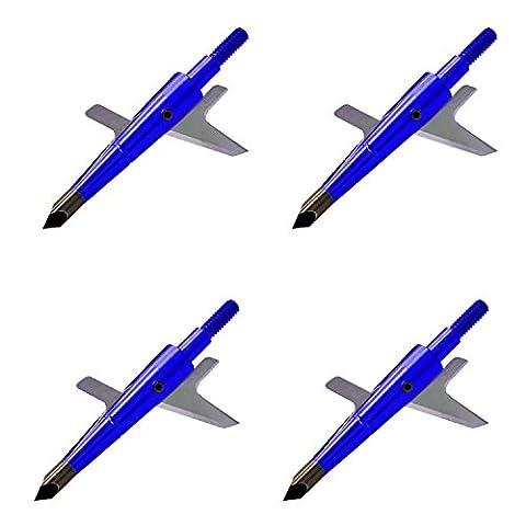 Freehawk® Archery Hypodermic Standard Broadheads 2 Blade, Bow / Crossbow Broadheads   Trauma Series   Adjustable Cutting Diameter, 2.4