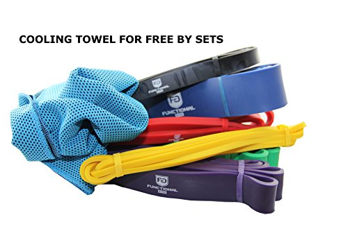 Pull Up Assist Band Stretch Resistance and Mobility Powerlifting and extra durable top rated SINGLE or SET perfect for workout,exercise,streching or gymnastics blue 65-175lbs