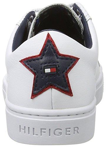 Tommy Hilfiger Mädchen V3285enus Jr 19a1 Sneaker Weiß (White)