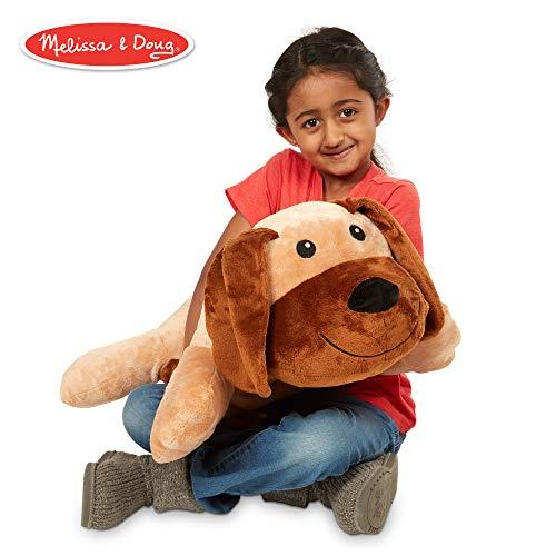 Melissa & Doug Cuddle Dog Jumbo Plush Stuffed Animal (Reusable Activity Card, Nametag, Over 2 Feet Long)