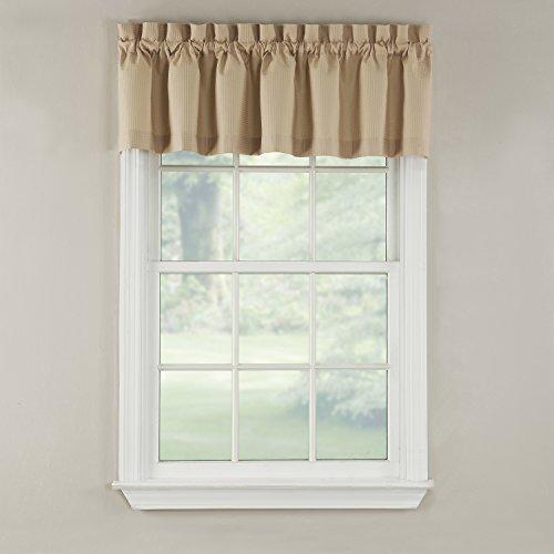 GPD Newport 60-inch x 12 inch Rod Pocket Valance Window Curtain, Beige
