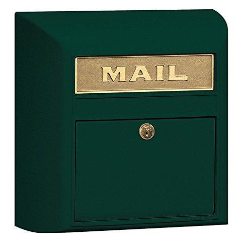 Salsbury Industries 4150P-GRN Plain Door Modern Mailbox, Green by Salsbury Industries