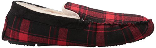 Steve Madden Men's Pfire Moccasin Red Plaid 13Uqux