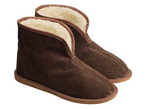 aveego - Zapatillas de estar por casa de Ante para hombre marrón